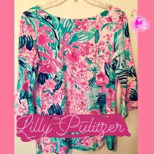 Lilly Pulitzer Bell Sleeve Top - Small